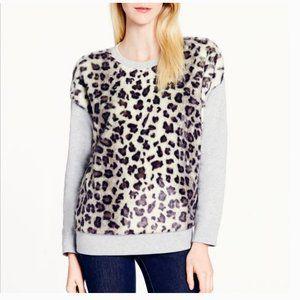 kate spade faux fur sweater size m nwot